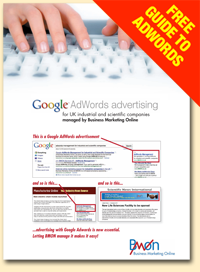 Google AdWords advertising with BMON brochure