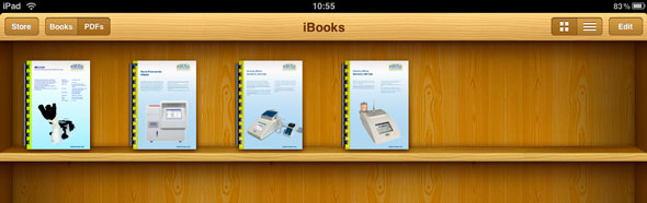 PDF library on iBooks on the iPad
