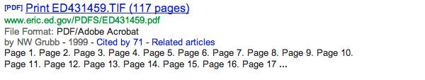 PDF results in Google