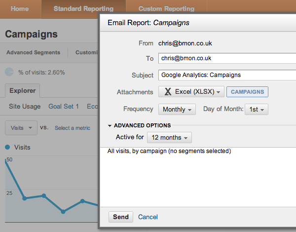 Google Analytics by email