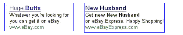 Bad eBay ads