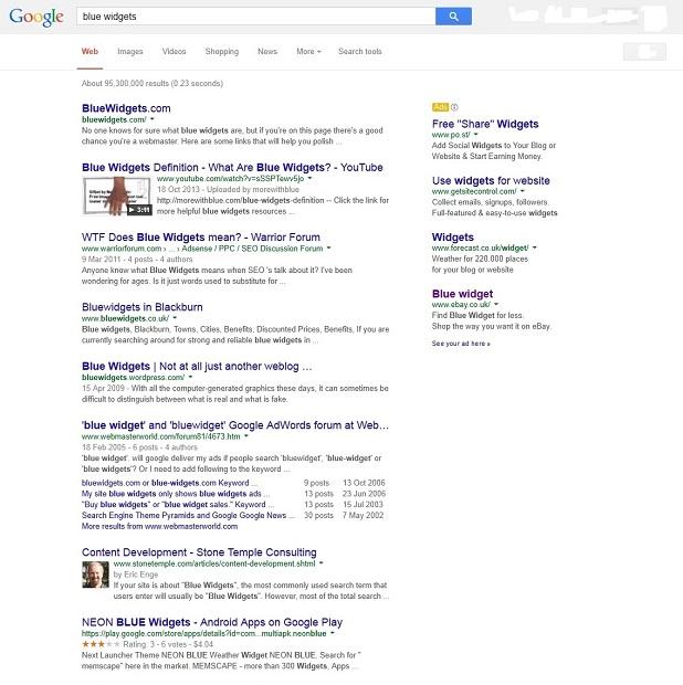 Blue Widgets-Google-Search