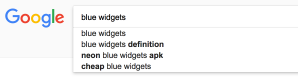 Example of Google autocompletion (2)