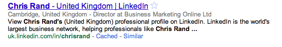 Chris Rand on LinkedIN