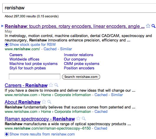 Renishaw on Google