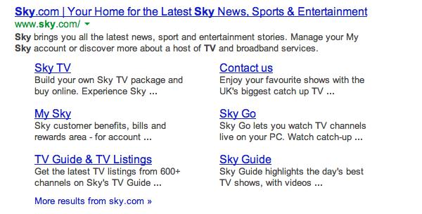 Sky TV search 1