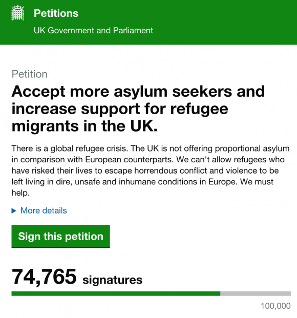 UK Government Petitions Page: beautiful.