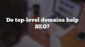 Do top-level domains help SEO?