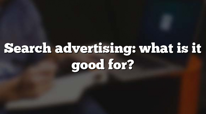 Search advertising: what is it good for?