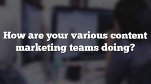 How are your various content marketing teams doing?