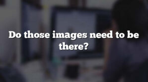 Do those images need to be there?