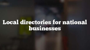 Local directories for national businesses